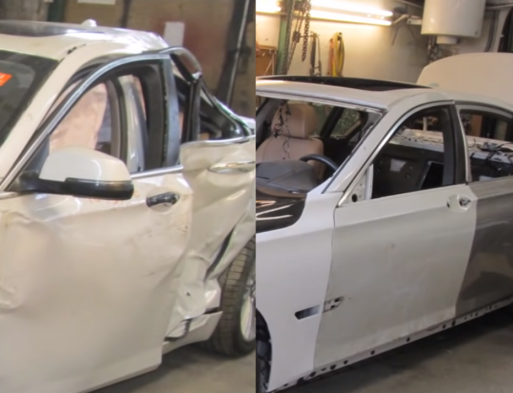 BMW 7 после восстановления. The full body repair. Полный ремонт кузова.